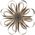 Gold Metal & Braided Flower Wall Decor - Large
