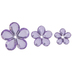 Purple Rhinestone Flower Embellishments