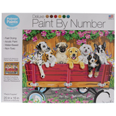 Playful Puppies Paint By Number Kit