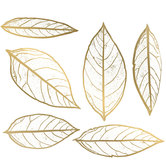 Gold Leaves Adhesive Wall Art