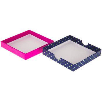 Pink Flower Polka Dot Gift Box