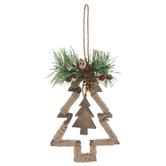 Jute Wrapped Christmas Tree Ornament