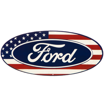 Ford Flag Metal Sign
