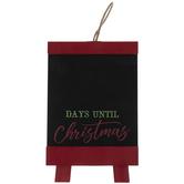 Days Until Christmas Wood Easel Chalkboard