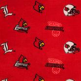 Louisville Allover Collegiate Fleece Fabric