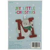 Snowman Letter Ornament
