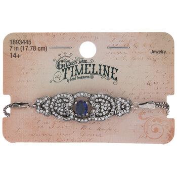 Blue Centerpiece Art Deco Bracelet