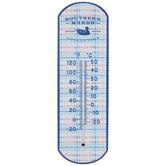 Southern Marsh Plaid Metal Thermometer