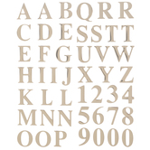 Rose Gold Epoxy Alphabet Stickers
