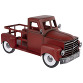 Red Metal Pickup Truck