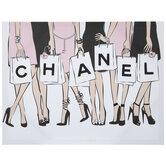 Chanel Shopping Bags Canvas Wall Decor