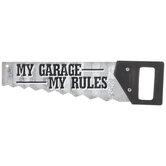 My Garage My Rules Metal Wall Decor