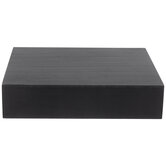 Black Floating Wood Wall Shelf