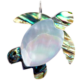 Layered Shell Sea Turtle Pendant
