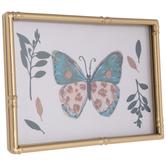 Butterfly & Leaves Framed Decor