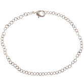 """Sterling Silver Plated Cable Chain Bracelet - 7 1/2"""""""