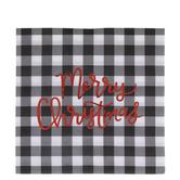 Black & White Buffalo Check Merry Christmas Napkins - Large