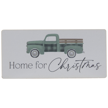 Home For Christmas Truck Wood Magnet