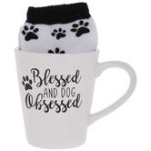 Blessed & Obsessed Paw Print Mug & Socks