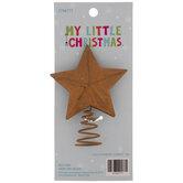 Mini Rusty Star Metal Tree Topper