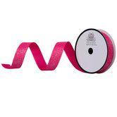 "Shock Pink Glitter Grosgrain Ribbon - 5/8"""