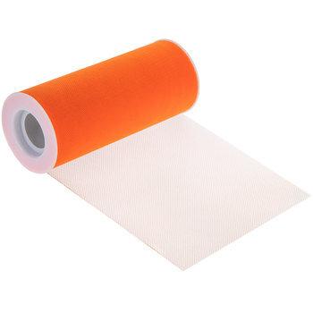 "Bright Orange Matte Tulle - 6"""