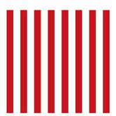 "Red & White XXL Striped Scrapbook Paper - 12"" x 12"""