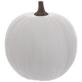 White Outdoor Pumpkin