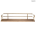 Wood Wall Shelf With Gold Bars