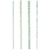 Green Mixed Glass Bead Strands