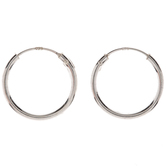 Sterling Silver Earring Hoops - 15mm
