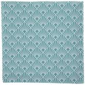 Teal Art Deco Seashell Cloth Napkin