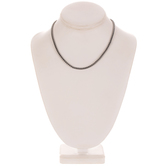 """Plated Hematite Rounded Box Chain Necklace - 16"""""""