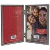 Nickel Hinged Metal Double Frame