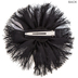 Black Fabric Flower Hair Clip with Pearl