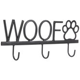 Woof Metal Wall Decor With Hooks