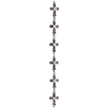 Carved Cross Connector Strand