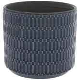 Blue Geometric Flower Pot