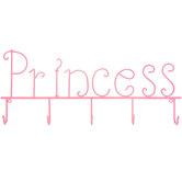 Princess Metal Wall Decor With Hooks