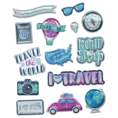 Ultimate Adventure Metallic Puffy Stickers