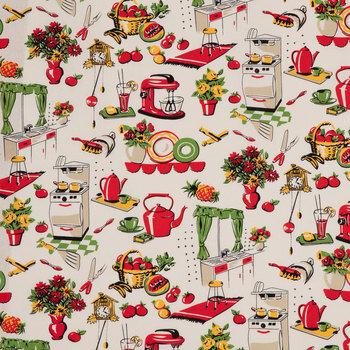 Fifties Kitchen Cotton Calico Fabric