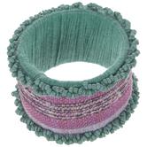 Turquoise & Pink Beaded Napkin Ring