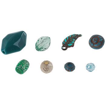 Turquoise Acrylic Bead Mix