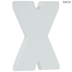 White Wood Letters X - 2