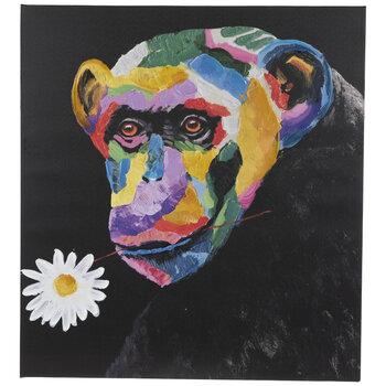 Monkey & Daisy Canvas Wall Decor