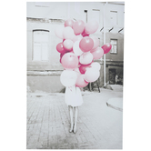 Woman With Pink Balloons Canvas Wall Decor