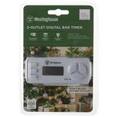 Double Outlet Digital Bar Timer
