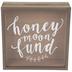 Honeymoon Fund Wood Coin Bank