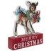 Merry Christmas Retro Deer Wood Decor