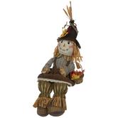 Scarecrow Shelf Sitter With Basket